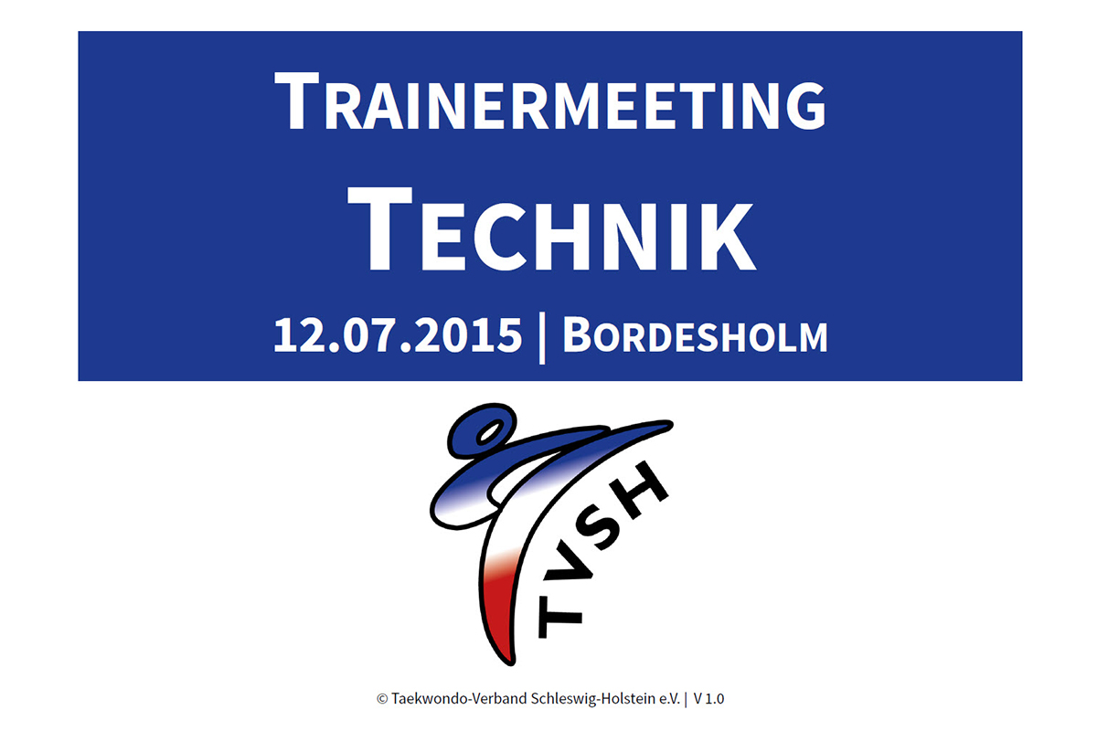 TVSH-Trainermeeting Technik
